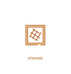 Stiching concept 2 colored icon simple line vector