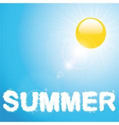 Summer blue sky and sun vector