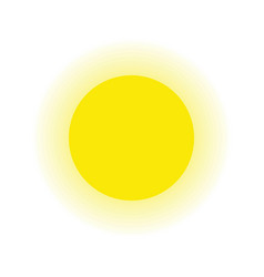 sun and ray isolated white background vector image