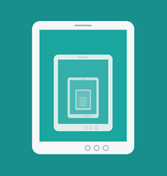 tablet recursion flat icon vector image