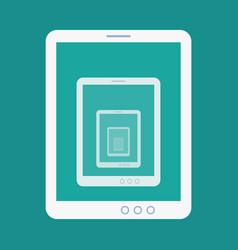 Tablet recursion flat icon vector