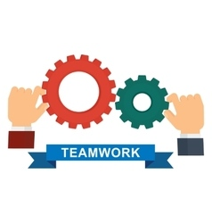team work mechanism vector image