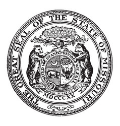 the great seal of the state of missouri vintage vector image