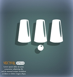 Three game thimbles with a ball games 3 cups icon vector