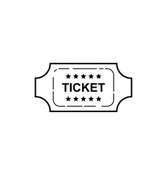 Ticket icon on white background vector image