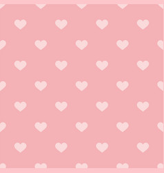 tile pattern with pink hearts on pastel background vector image