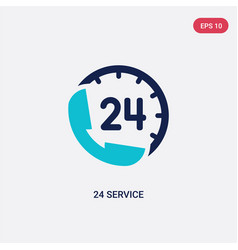 Two color 24 service icon from hotel concept vector