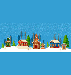 urban winter landscape christmas happy holidays vector image