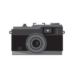 Vintage camera front retro vector