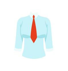 white shirt with red tie womens business clothing vector image