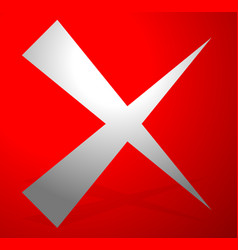 x letter x shape cross with red colors as delete vector image