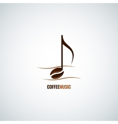 coffee bean concept music background vector image vector image