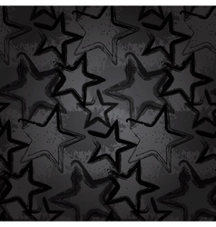 Grunge rock star background brush smear stars vector image vector image
