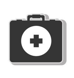 Medical first aids suitcase vector image