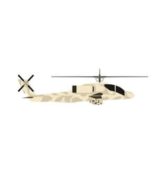Military helicopter UH-60 hawk flat render air vector image