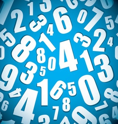 Number seamless background vector image