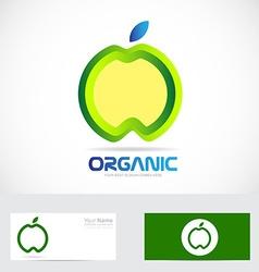 Organic apple nature food concept logo vector image