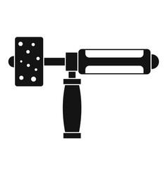 Precision grinding machine icon simple vector