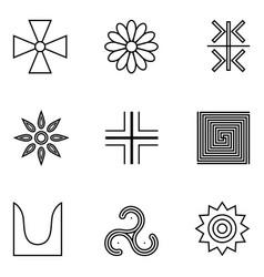 symbols of ancient serbs vector image vector image