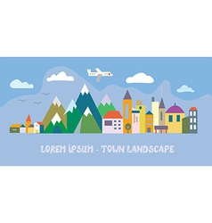Banner with tourist town - funny vector image vector image