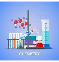 Chemistry science education concept poster vector image