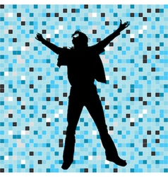 disco dancer vector image vector image