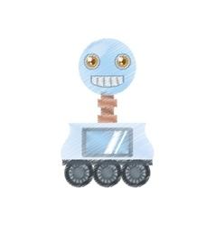 Drawing arificial intelligence robotic smiling vector