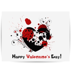 Gothic Valentines day card vector image vector image