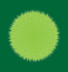 Green fluffy hair ball vector