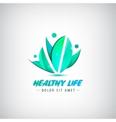 healthy life logo man human organic logo vector image