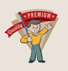 Retro vintage premium label vector image vector image