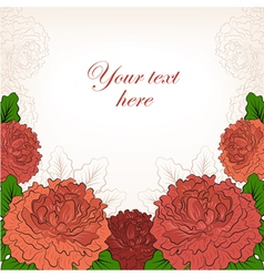Abstract romantic background with peonies vector image