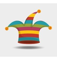 jester hat design vector image vector image