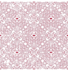 Seamless pattern with hearts inred vector image vector image