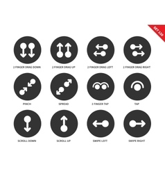 Touchscreen icons on white background vector image