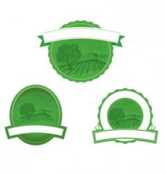 woodcut farm scene vector image vector image