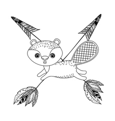 Beaver animal cartoon design vector