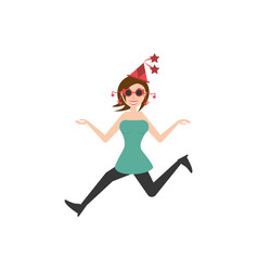 cheerful woman party celebration vector image
