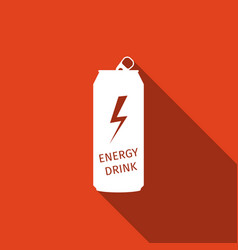energy drink flat icon with long shadow vector image vector image