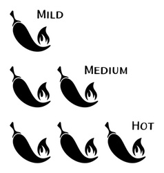 Hot chilli peppers vector image vector image
