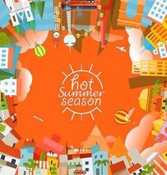 Travel concept hot summer season vector