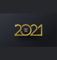 2021 new year glitter gold logo vector image