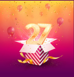 27 th years anniversary design element vector