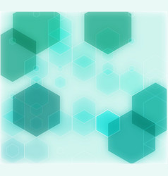 Abstract geometrical green background vector