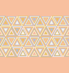 Abstract geometry in retro colors geometric vector
