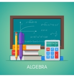 Algebra math science education concept vector