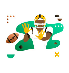American foorball player catching the ball vector