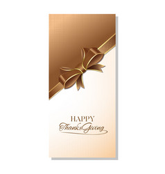 banner template for thanksgiving day vector image