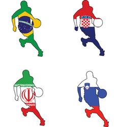 Basketball colors of Brazil Croatia Iran Slovenia vector