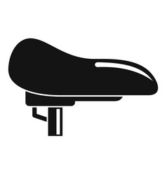 bike seat icon simple style vector image